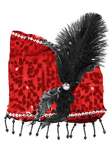 Charleston Pailletten Handtasche - Rot - Zauberhafte Party Umhängetasche zum 20er Jahre Gatsby Kostüm -