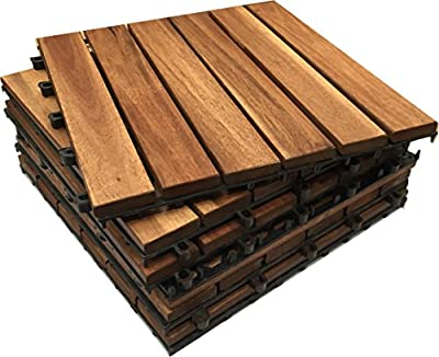 HARDWOOD Decking Tiles - Click-Deck - Patio, Balcony, Roof Terrace, Hot Tub Deck Tiles Flooring Decking produced by Click-Deck Products - quick delivery from UK.