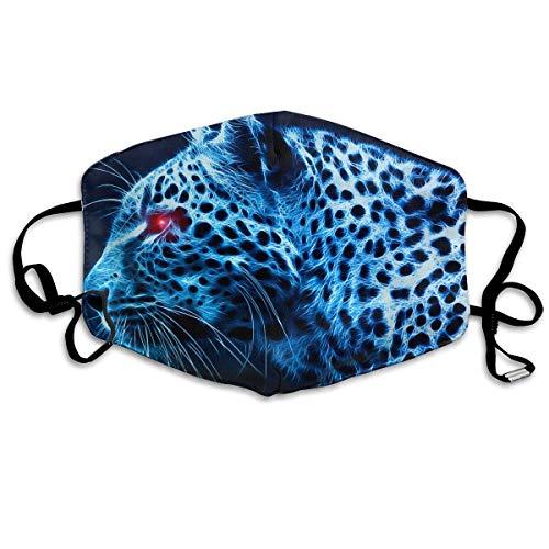 Vbnbvn Unisex Mundmaske,Wiederverwendbar Anti Staub Schutzhülle,Cool Tiger Face Mouth Mask Anti Dust Breathable Earloop Face Flu Maske für Mann Frau