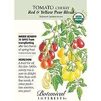 Portal Cool Rojo y Amarillo pera Mezcla de Tomate - 30 Semillas - Orgã¡Nico - Intereses botánicos