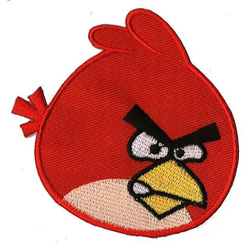 Da Stiro immagini Angry Bird Blu Tessuto Toppa Toppe Applicazione immagine volti Smile Emotion...