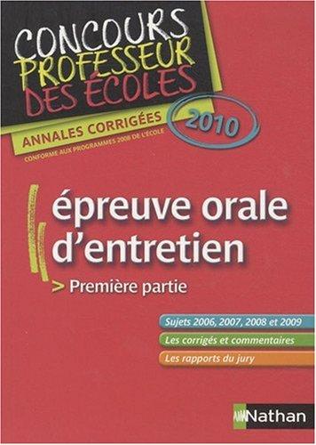 EPREUV ORALE ENTRETIEN CRPE 10