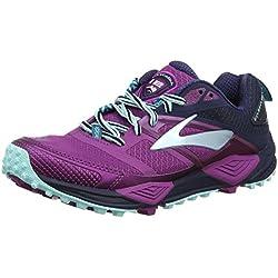Brooks Cascadia 12, Zapatillas de Running para Asfalto para Mujer, Multicolor (Plum/Navy/Ice Blue 1b533), 37.5 EU