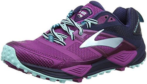 Brooks Cascadia 12, Zapatillas de Running para Asfalto para Mujer, Multicolor (Plum/Navy/Ice Blue 1b533), 40 EU