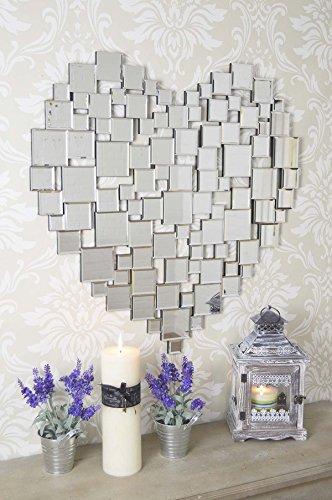 Large Beautiful Modern Heart Shape Venetian Wall Mirror 2Ft8 80cm