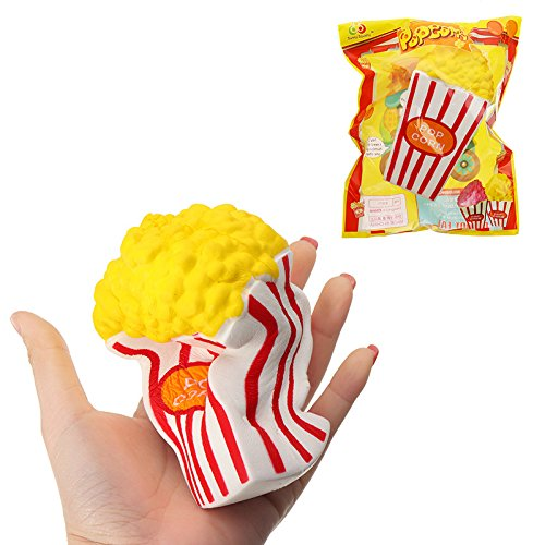 HITSAN INCORPORATION Sunny Popcorn Squishy 15CM Slow Rising with Packaging Cute Jumbo Soft Squeeze Strap Scented Toy