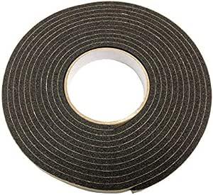 Vollgummistreifen Neopren 25 mm breit x 2 mm dick x 5 m lang Schwarz