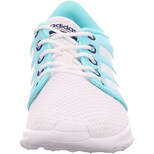 adidas Cloudfoam Qt Racer, Sneakers Basses Femme Blanc Cassé (Ftwbla/ftwbla/tinuni)