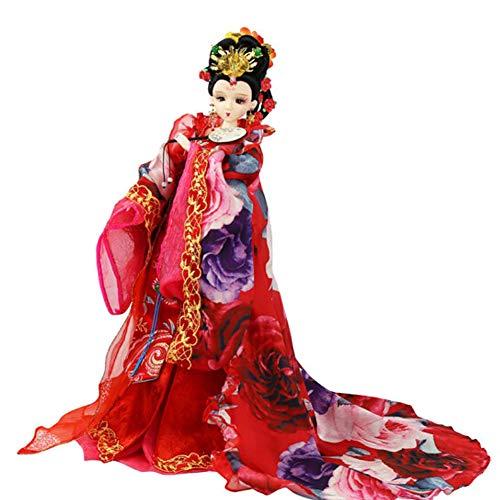 DoCori Muñecas de Seda, decoración Oriental, muñeca China con Traje Antiguo, muñeca de niña de 12.5 Pulgadas para decoración de Mesa,e