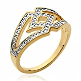 Ring for Women Gold plated 18k Cubic Zirconia - EU Size 64 - Paris France Jewelry - Bijoux à gogo - 51561