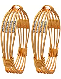 YouBella Jewellery Traditional Gold Plated Bracelet Bangles Set for Girls and Women