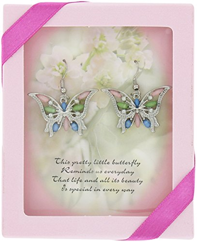 Monarch Minis Schmetterling Ohrringe - Komplimente in rosa Geschenk-Box mit Carded Poem