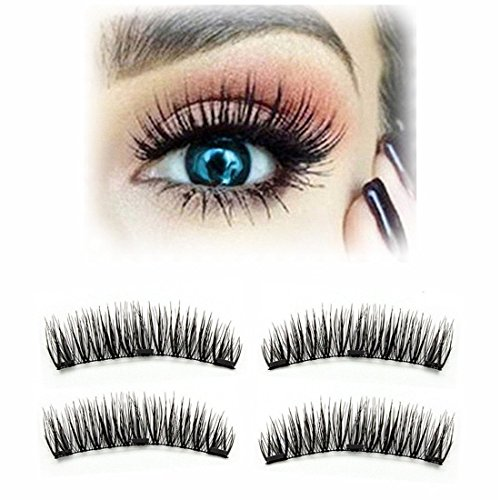 a02a186978c Ufar False Eyelashes Natural Look, [2018 Upgraded ] Three Magnets Full  Strip Easy to