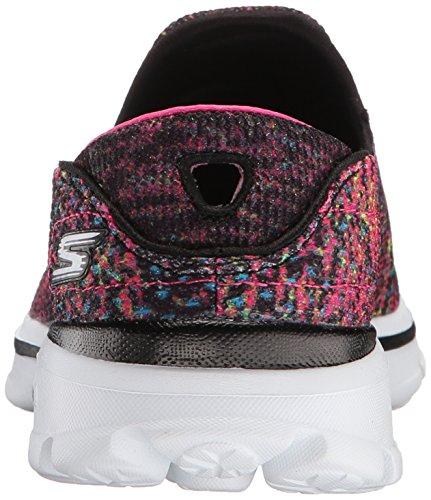 Skechers Damen Go Walk 3 Glisten Sneaker Schwarz/Mehrfarbig
