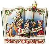Disney Figurina del Libro di Favole Traditions Christmas Carol 'Merry Christmas'