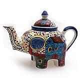 Teekanne Elefant Kanne keramik handbemalt Kännchen Geschirr Dekoration - Gall&Zick