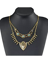 TBOP NECKLACE THE BEST OF PLANET Simple And Stylish Jewelry Drop Turquoise Clavicle Chain Double Tassel Necklace...