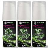 3x 50ml Medizinische Tattoopflege - Mit Panthenol und 100% Bio-Hagebuttenkernöl