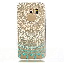 Funda per Samsung Galaxy S7 Custodia TKSHOP Case Cover Crystal Morbido TPU Silicone Gel Conchiglia Protezione smartphone Shock-Absorption - Stampa Modello Blu Mandala cappio