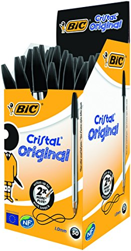 51NwyQnp0 L - NO.1 BEAUTY# BIC Cristal Original 1.0 mm Ball Pen - Black, Pack of 50 Reviews  Best Buy price
