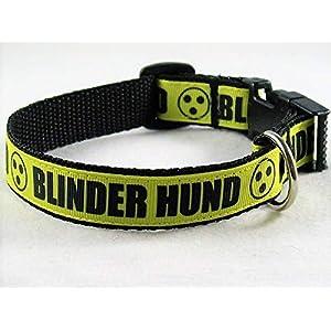 """Halsband""""Blinder Hund"""" von ca.22 bis 30 cm Halsumfang"""