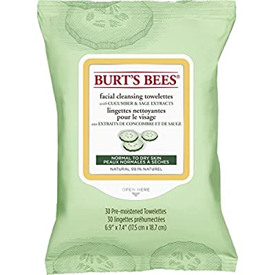 Burt's Bees Sensitive Facial Cleansing Towelettes, 30 Count by Cbee Europe LTD