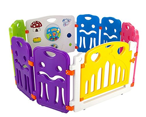 Cannons Plastic Baby Den Playpen with Games Station (Small Panels, 160 x 80 cm) Cannons Tested to European Standards EN12227:2010 and EN71 Suitable for indoor or Ourtdoor use Play Station included in each model 2