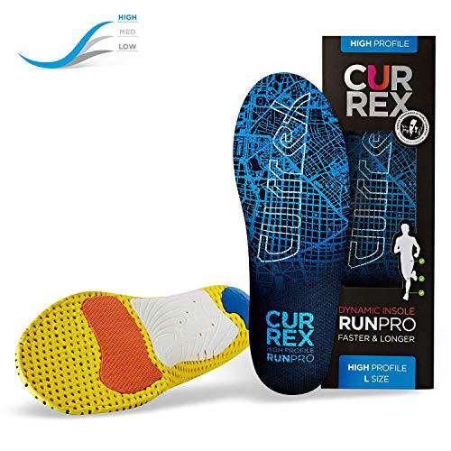 CURREX RunPro Sohle - Entdecke Deine Einlage für eine neue Dimension des Laufens. Dynamische Einlegesohle für Sport, Freizeit und Laufen, High Profile, EU 47-49