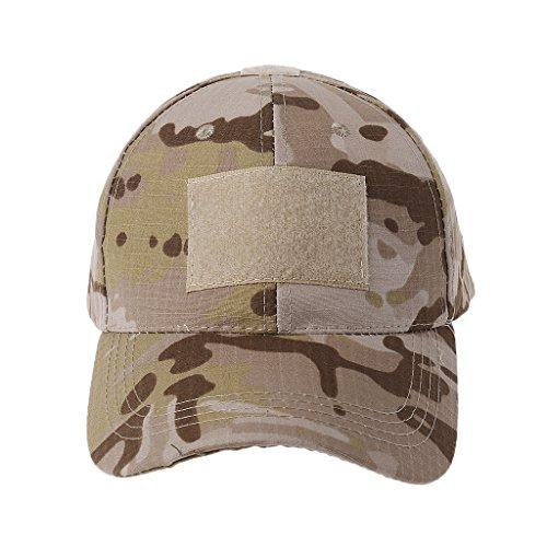 JERKKY Militärische Taktische Camo Cap Armee Baseball Mütze Patch Hut Abzeichen Haken Brassard Emblem Desert Camo - Armee Baseball Cap Hut