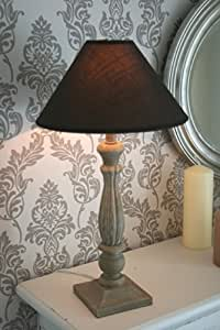 landhaus tischlampe tisch lampe leuchte tischleuchte shabby h he 50 cm in braun. Black Bedroom Furniture Sets. Home Design Ideas