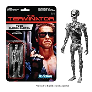 Funko – Terminator Reaction Endoskeleton Cromo Figura, 849803039134, 10 cm