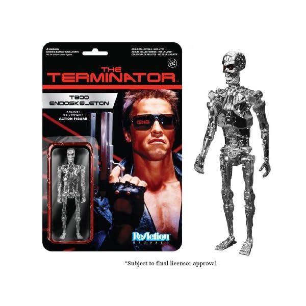 Funko- Terminator Reaction Endoskeleton - Figura de Cromo, 10 cm 1
