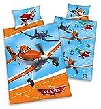Disneys Planes Kinder BETTWÄSCHE 40x60 100x135cm 100% Baumwolle