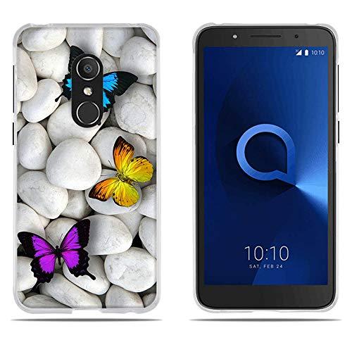 DIKAS Hülle Alcatel 1C 5009A 5009D, TPU Softcase Silikon Back Cover Anti-Scratch Telefon-Kasten Handyhülle Handycover Bumper Fall für Alcatel 1C 5009A 5009D (5.34