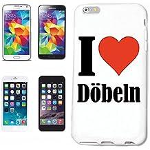 """Handyhülle iPhone 7 """"I Love Döbeln"""" Hardcase Schutzhülle Handycover Smart Cover für Apple iPhone … in Weiß … Schlank und schön, das ist unser HardCase. Das Case wird mit einem Klick auf deinem Smartphone befestigt"""