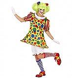 Widmann 76133 - Erwachsenenkostüm Clown Girl, Kleid mit Reifen, Größe L