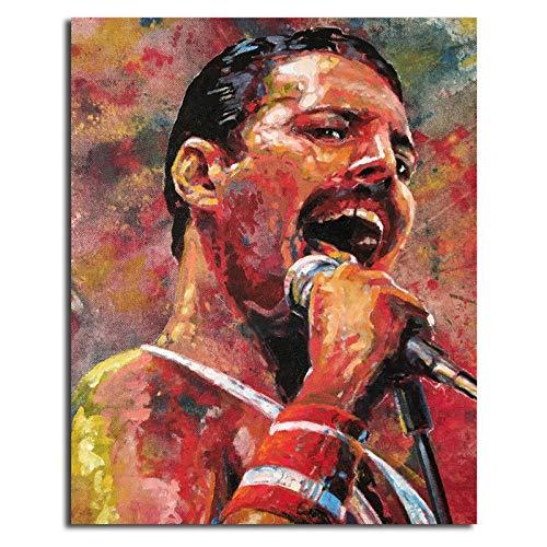 WJY Queen Band Freddie Mercury HD Wall Art Canvas