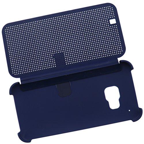 Preisvergleich Produktbild Blau HTC One M9 2015 Dot Matrix View Book Premium Hülle Tasche Smart Case