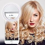 N4U ONLINE - Weiß Selfie 36 LED Ring Blitz Füllung Licht Clip Kamera für Microsoft Oberfläche Pro 2 512 GB