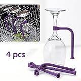 Bolange 4 unids/set de sostenedor de la copa de vino del silicón, vino durable del silicón que se lava el hogar del vino