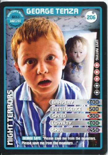 Doctor Who Monster Invasion Extreme Common Card #206 George Tenza