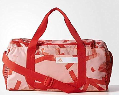 adidas Damen Good Team Graphic 1 Sporttasche, Sun Glow/Core Red/White, 46 x 23 x 24 cm