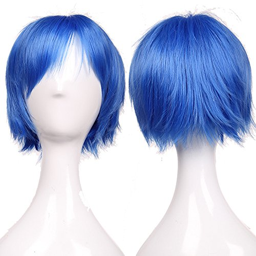 S-noilite Vogue Short Full Head Wigs Cosplay Costume Party Fancy Daily Dress Syntheic Dark Blue by (Kostüme Fancy Dress Blue)