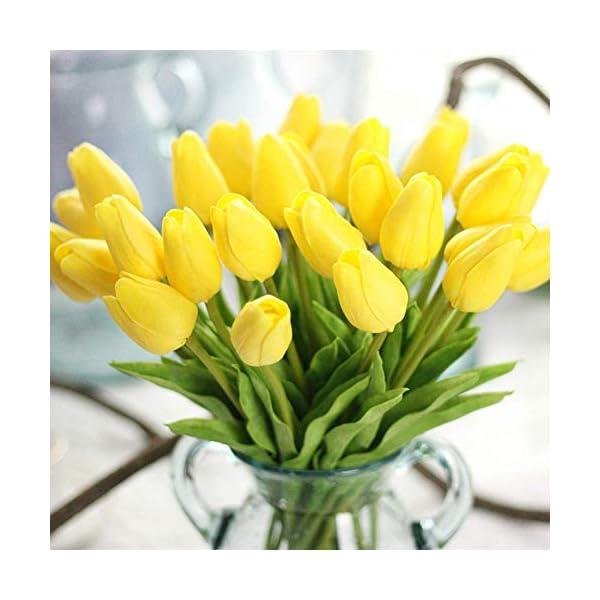 Ramo de Flores Artificiales de Seda, tulipán de Tacto Real, Ramo de Boda para el hogar, jardín, Fiesta, decoración…