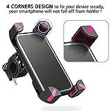 Fahrrad Handyhalterung, Wrcibo Universal Handy Halterung Outdoor Fahrradhalterung Fahrrad Lenker 360° Drehbare Handyhalterung Handy GPS Halter-Rosa - 2