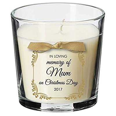 Christmas Day Remembrance candle personalised loss memorial bereavement absence mum dad nan