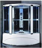 Cabina con vasca Idromassaggio 150x150 semicircolare box doccia full optional I