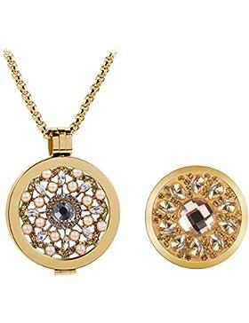 Meilanty 2 Coins 33mm Edelstahl Gold Damen Halskette mit 80cm Ketten WZ-19-01-2GP