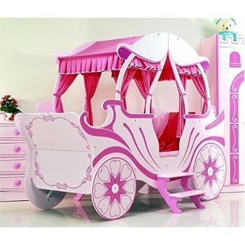 Bett Kutsche pink Kinderbett Mädchen und Prinzessin: Amazon.de ...