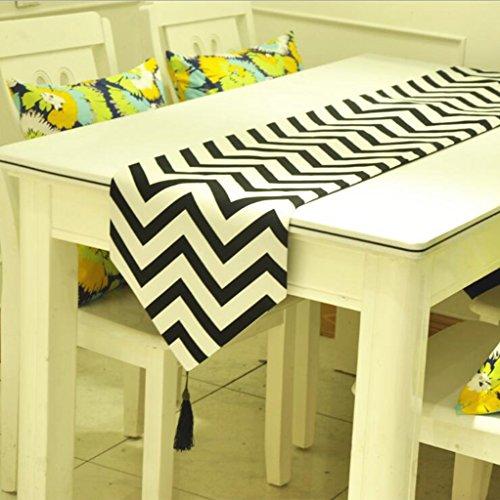 Miaoge Europa Modern schwarz und weiß Geometrie Wasser wellig Tabelle table flag 30*200cm